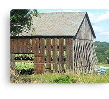 Tobacco barn, North Carolina Canvas Print