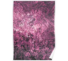 Magenta modern abstract painting art design Poster