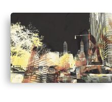 Beauty in chaos in New York Day Canvas Print