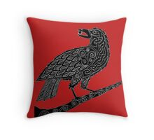 Celtic Raven Throw Pillow