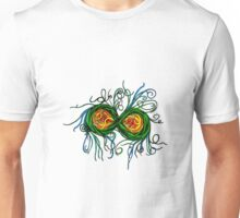 Psychedelic Abstract Colourful 34 Crest Unisex T-Shirt