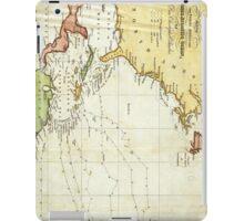 Vintage Christopher Columbus Voyage Map (1828) iPad Case/Skin