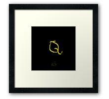 Q Golden Alphabet Series Framed Print