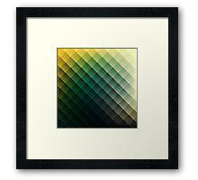 Rhombus Pattern Framed Print