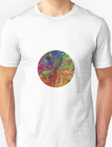 Psychedelic Abstract Colourful 74 Crest Unisex T-Shirt