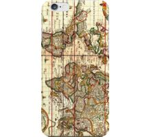 Vintage Map of The World (1652) iPhone Case/Skin