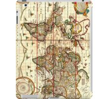 Vintage Map of The World (1652) iPad Case/Skin