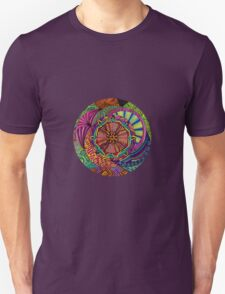 Psychedelic Abstract Colourful 94 Crest Unisex T-Shirt