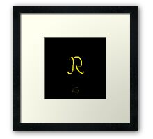 R Golden Alphabet Series Framed Print