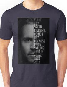 Paul Walker Text Portrait Unisex T-Shirt