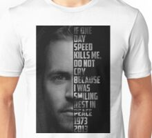 Paul Walker Text Portrait Unisex T-Shirt