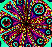 Psychedelic Abstract Colourful 104 Crest Sticker
