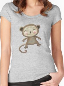 Wee Monkey Women's Fitted Scoop T-Shirt