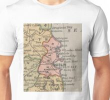 Vintage Map of Dublin Ireland (1883) Unisex T-Shirt