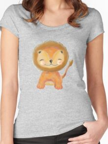 Wee Lion Women's Fitted Scoop T-Shirt