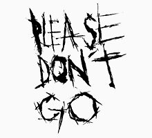 Please don't go. Men's Baseball ¾ T-Shirt