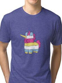 Pinata Unicorn Tri-blend T-Shirt