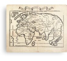 Vintage Map of The World (1522) Metal Print