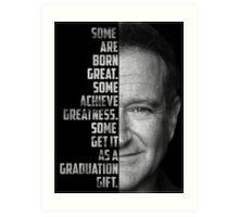 Robin Williams Text Portrait Art Print