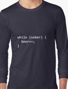 While Sober Do Beer - White Long Sleeve T-Shirt