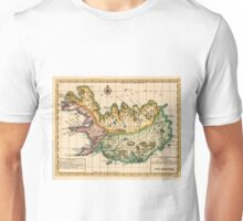 Vintage Map of Iceland (1756) Unisex T-Shirt