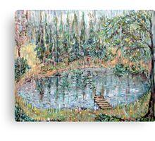 Fishing in the Summer Rain Canvas Print