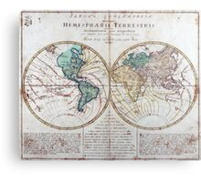 Vintage Map of The World (1760) Metal Print