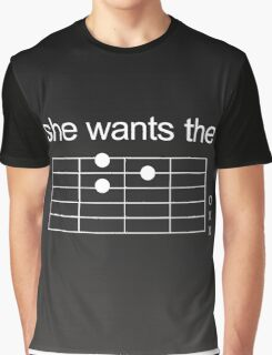 She Wants The D - Guitar Chord [WHITE] Graphic T-Shirt