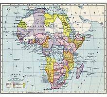 Vintage Map of Africa (1897) Photographic Print