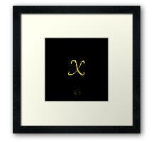 X Golden Alphabet Series Framed Print