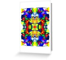 Pattern Crazy - Ink Patterns on Yupo Nr 001 Digitally Multiplied Greeting Card
