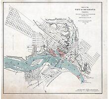 Vintage Map of Richmond Virginia (1864) Photographic Print