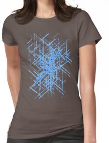 Abstract Blueprint Womens Fitted T-Shirt