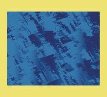 Abstract blue-tones 354B Kids Tee