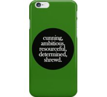 Slytherin - Minimalist Dot iPhone Case/Skin