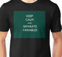 Calculus Keep Calm Message Unisex T-Shirt