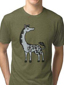 Silver Giraffe with Black Spots Tri-blend T-Shirt
