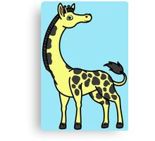 Yellow Giraffe with Black Spots Canvas Print