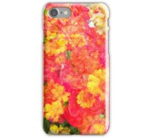 Pink and Yellow Watercolor Flowers iPhone Case/Skin
