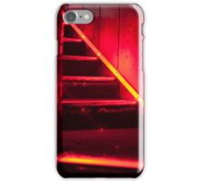 Club stairs in red iPhone Case/Skin