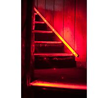 Club stairs in red Photographic Print