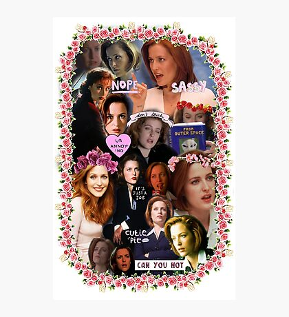 X-files Dana Scully - Collage Part 2 Photographic Print