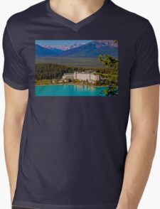 Canada. Lake Louise. Chateau Lake Louise. Mens V-Neck T-Shirt