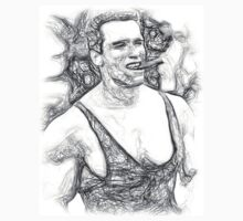 Arnold Schwarzenegger - Pencil Art Kids Tee