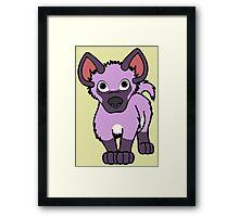 Light Purple Hyena Cub Framed Print