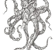 Steampunk Octopus by betsystreeter