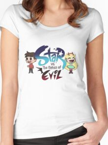 Star vs the forces of Evil w/ Star & Marco Women's Fitted Scoop T-Shirt