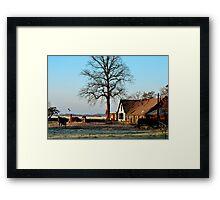 At the morning farm Framed Print