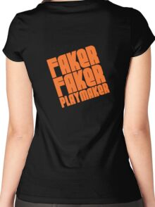 Faker, Faker, Playmaker Women's Fitted Scoop T-Shirt