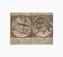 Vintage Map of The World (1587) Unisex T-Shirt